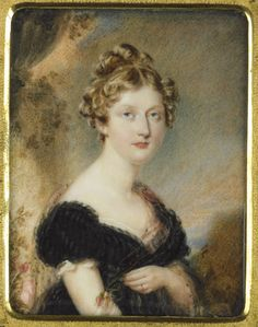 Attributed to Simon-Jacques Rochard, A Lady, probably princess Charlotte, ca.1815-1817
