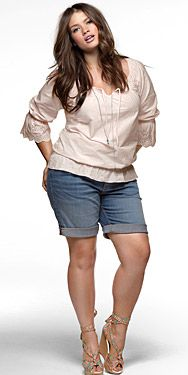 jean shorts, summer fashions, curvy girls, plus size fashions, curvy girl fashion, casual looks, shoe, spring outfits, tara lynn