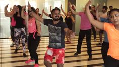 Happy is what happy does - some fun moments from the #bhagra #fitnessclass
