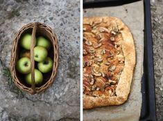 Mám ráda vůni jablek. Takových těch, cosi jeutrhnete zesadu avoní jako čistá esence podzimu. Koš přesně takových jablek namě čekal doma.Galette jevlastně jenkřehké máslové těsto pokladené plátky jablek aupečené dozlatova.
