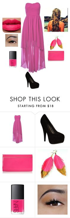 """""""Soirée"""" by eleonore-victoria-hardy ❤ liked on Polyvore featuring AX Paris, Jimmy Choo, NARS Cosmetics and Ellis Faas"""