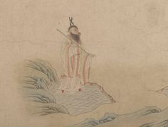 Ox? From 明 傳仇英 五星二十八宿神形圖 卷  5 Planets and 28 Constellations Artist: Attributed to Qiu Ying (Chinese, ca. 1495–1552) Period: Ming dynasty (1368–1644) Date: 16th century Culture: China Medium: Handscroll; ink and color on paper The subject and imagery of this painting are derived from a composition attributed to the Tang dynasty (618–907).