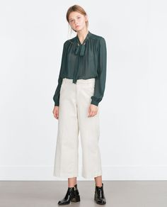 Image 1 of BOW SHIRT from Zara