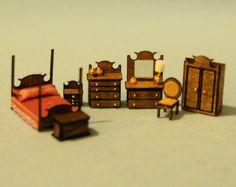 Dormitorio de pulgada 1/144th escala miniatura-Emma