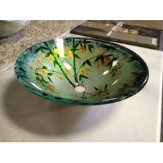 Bamboo Leaves Vessel Sink