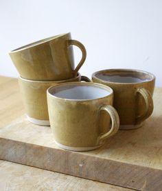 Handmade pottery mugs by littlewrenpottery