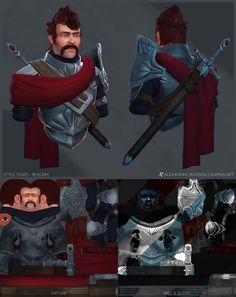 Knight Bust Style Study - Realism by Alemja.deviantart.com on @deviantART
