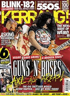 Kerrang #magazine 16th #april 2016 guns n' roses - 5sos - #creeper - blink182 @ne, View more on the LINK: http://www.zeppy.io/product/gb/2/272283924783/