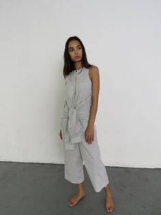 This relax tie front jumpsuit by Sayaka Davis is on mega sale thanks to Dubai-based boutique Human & Beings. Shop now and thank them later.