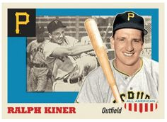 2016 Topps Now #TBT Week #4 Card # 24 Throwback Thursday Ralph Kiner Pittsburgh  #PittsburghPirates