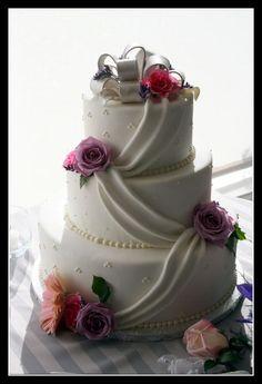 Image detail for -Simple White Elegant Wedding Cake | Wedding Cake Idea