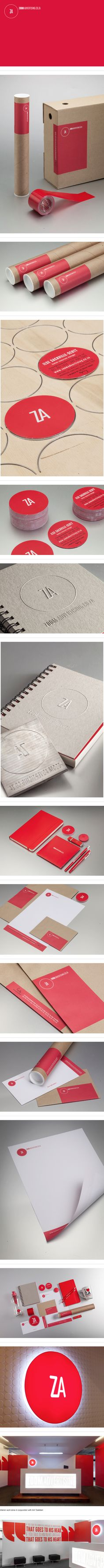 Za Agency Branding by Ben Johnston, via Behance #identity #packaging #branding #marketing PD