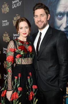John Krasinski and Emily Blunt at event of Into the Woods John Krasinki, Into The Woods Movie, Red Carpet Party, Famous Couples, Emily Blunt, About Time Movie, Celebs, Celebrities, Celebrity Couples