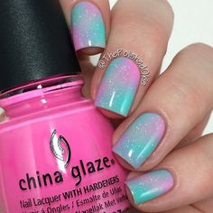 Cotton Candy Galaxy Nails