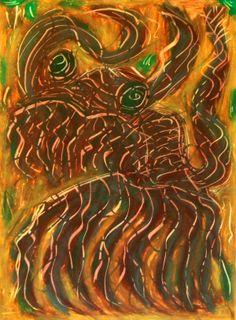 """""""Piccolo demonio"""" 2012 Tecnica mista su cartoncino 38x28 ©Pietro Gargano"""
