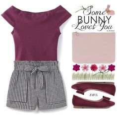 Cute Easter Outfit by beebeely-look on Polyvore featuring MANGO, Alexander McQueen, Accessorize, Easter, preppy, plaid, springfashion and zaful