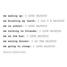 ME I LOVE HAIKYUU