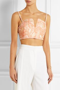Opening Ceremony|Cropped jacquard top