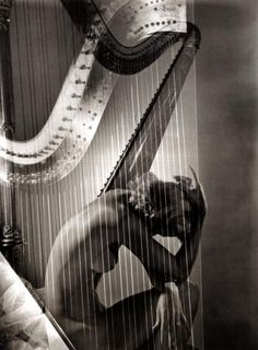HORST P. HORST - Lisa with Harp, Paris, 1939