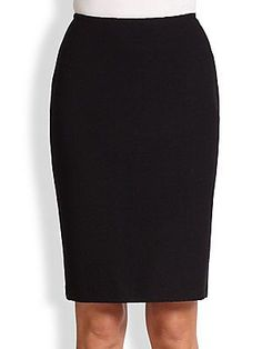 c9d13f2702f3d St. John - Caviar Collection Knit Pencil Skirt