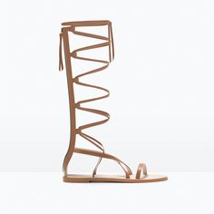 Perfect for the coming festival season! #Musthave   1 of LEATHER GLADIATOR SANDALS from Zara