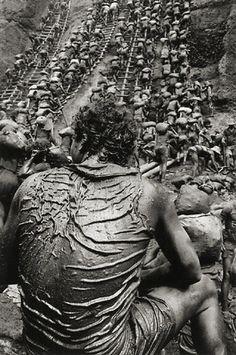Sebastiao Salgado - Brazilian social documentary photographer.     Serra Pelada gold mine Brazil.