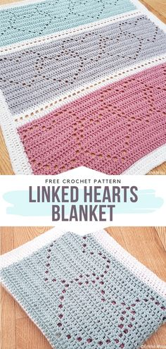 Linked Hearts Blanket Free Crochet Pattern Can you believe that this lovely blanket covered with openwork hearts is actually not that difficult to make? If you have a little experience, time and patience, you will certainly learn how to make it in Easy Crochet Stitches, Crochet Motifs, Afghan Crochet Patterns, Easy Knitting, Knitting Patterns, Free Crochet Afghan Patterns, Crochet Afghans, Amigurumi Patterns, Crochet Double