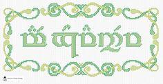 Mae Govannen! Tolkien Elvish Welcome Cross Stitch Sampler