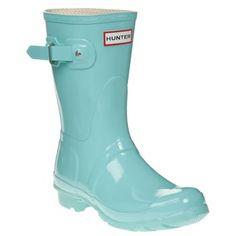 Hunter 'Original Short' Gloss Rain Boot Turquoise!!!