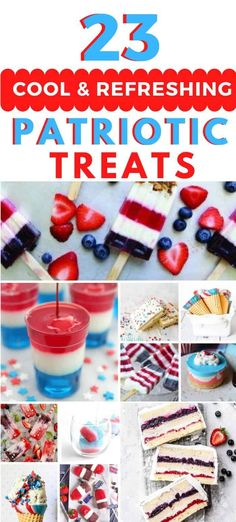 Cool & Refreshing of July Treats - 22 cool and refreshing of July treats for those hot holiday gatherings! of july desserts. fourth of july desserts. red white and blue desserts. Desserts Fourth Of July, Memorial Day Desserts, Patriotic Desserts, Blue Desserts, Blueberry Yogurt Popsicles, Smoothie Popsicles, Frozen Yogurt Pops, Frozen Yogurt Blueberries, Icebox Cake Recipes