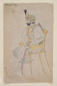 Maharaja Ranbir Singh, ca. 1860–80. India (Jammu). The Metropolitan Museum of Art, New York. Gift of Subhash Kapoor, in memory of his parents, Smt Shashi Kanta and Shree Parshotam Ram Kapoor, 2008 (2008.359.55) #mustache #movember