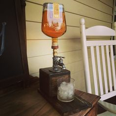 custom made whiskey dispenser for your deck, porch, or man cave @dun4me