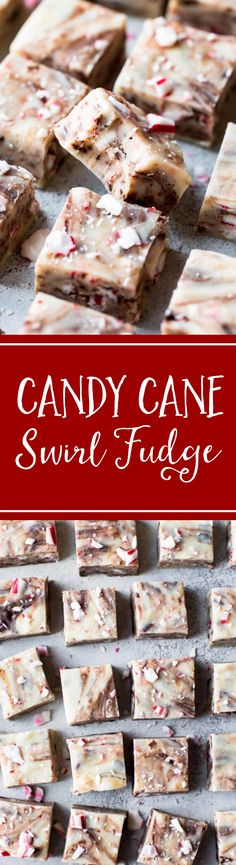 Easy chocolate swirled fudge filled peppermint and candy canes. 10 minutes, 5 ingredients! Recipe at sallysbakingaddiction.com