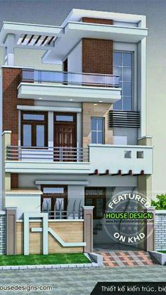House design 3 Storey House Design, Bungalow House Design, House Front Design, Small House Design, Latest House Designs, Cool House Designs, 20x30 House Plans, House Plans Mansion, House Design Pictures