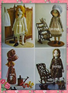 Vintage Holly hobbie Rag doll and her clothes 1973 sewing Pattern