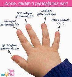 Anne, neden 5 parmağımız var? <3  #sevimlibebekler #komikresimler
