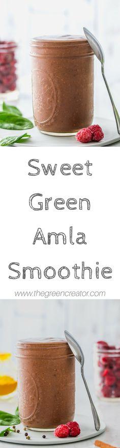 Sweet Green Amla Smoothie   #smoothies #smoothie #breakfast #vegan #plantbased #amla #food #foodphotography #yummy