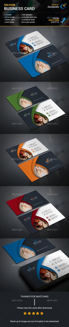 #Salon Business Card - #Business Cards Print Templates Download here: https://graphicriver.net/item/salon-business-card/17476947?ref=classicdesignp