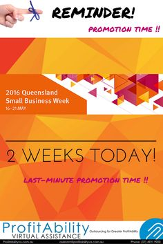 just a heads up that it is only two weeks until #2016QueenslandSmallBusinessWeek. Weeks like this are a fabulous time to advertise your products and services, to network, and to attend planned events! This years theme is 'Collaboration and Partnerships' which is perfectly aligned with ProfitAbility Virtual Assistance's mission to help Business Owners tackle their business tasks. Business Queensland have gathered together some tips into building healthy collaborations and partnerships.