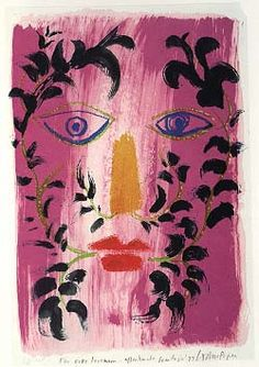 """Foliate Head"" by John Piper, 1971"
