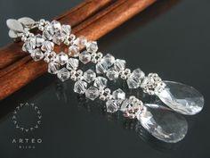 Kolczyki ślubne SWAROVSKI długie crystal 837 ARTEO