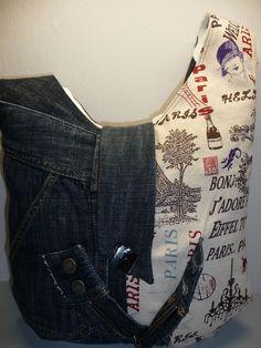 Paris Jeans  Street one  Damen UmhängeTasche, selbst genäht, Unikat, Individuell