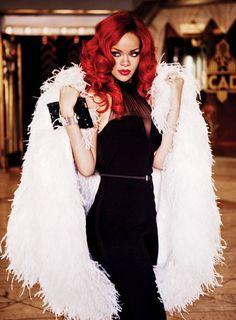 Rihanna in 1960's glamour