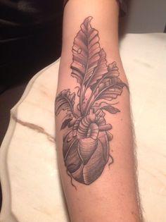 Heart beet tattoo