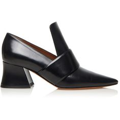 Givenchy Patricia Loafer ($995) ❤ liked on Polyvore featuring shoes, loafers, block heel shoes, calfskin shoes, givenchy shoes, loafer shoes and loafers moccasins