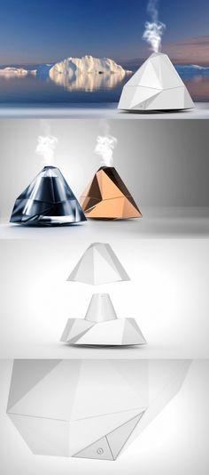 빙산을 모티브로 디자인한 가습기이다. 빙산의 깨끗함을 보여줄 수 도 있고 약간은 추상적인 형태의 디자인이 사람들의 시선을 끌 수 있을 것 같다. 컬러는 한가지의 색으로 깔끔함을 더하면서 형태를 더 부각시키는 디자인이다.