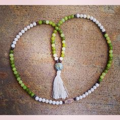 """24 Likes, 8 Comments - Toi Lynn Wyle (@theblissgoddess) on Instagram: """"""""I see.  I am.  I flow."""" 108 tassel mala with serpentine, jade, riverstone and wood beads, yak bone…"""""""