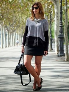 Miss trendy Barcelona: Perlas y gris