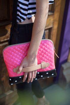 Carry your iPad and essentials wherever you go!  |  Consuela Candy Crush Pink Scream Portfolio Clutch
