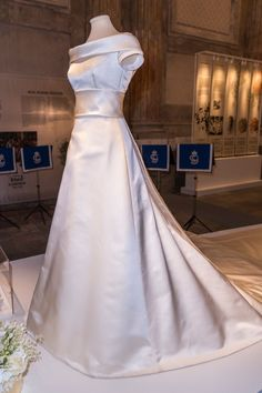 Crown Princess Victoria S Wedding And Pre Dinner Dress Exhibition About The Royal Dresses Is From